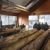 森林林業技術センターでの製材