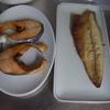 幸運な病のレシピ( 1597 )朝:寝坊して取り急ぎ魚焼いて、味噌汁作った、マユの御飯作った