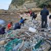 【海洋プラスチック】対馬に漂着する海洋プラスチックが再生ポリエステルに