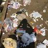 カラスが荒らして公園中に散らばったゴミを片付けるの巻   宮松町