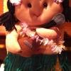 ハワイのおみやげ!ウクレレを弾いている女の子のナベつかみ