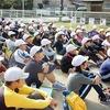 5年:稲刈り 町民運動会リレー練習