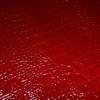 日本経年変化協会採用の真っ赤なクロコ型押しレザー取り扱っております