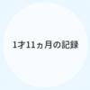 1才11ヵ月のキロク【育児記録】