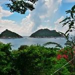 タオ島 北西部デュシットブンチャリゾート(Dusit Buncha Resort)のテラスにてナンユアン島を眺める!!