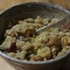 玄米もち麦サツマイモ卵かけ納豆御飯