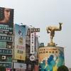 嘉義   映画「KANO」の像があるロータリーです