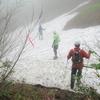 ◆'18/06/16       障子ヶ岳④…雪渓にドキドキ・花にワクワクしつつ下山。