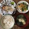 【うちごはん】鮭のホイル焼き/小松菜ナムル/厚揚げと白菜の和風そぼろあん