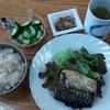 鯖の塩焼きと納豆と胡瓜