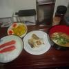 今日の晩御飯はタラのムニエル定食でした。