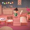 【あつ森】ピンクのウッドデッキ(階段)のマイデザインがTwitterで話題!壁紙や床などもセットで使えてかわいい【あつまれどうぶつの森】