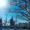 大雪からの青空、五洲薬品入浴剤福袋、シルクふぁみりぃ靴下の新品おろし、