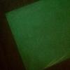 工作アイデア『蓄光プラ板』暗いところで光るよ!