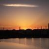 「秋分」の朝をため池で迎える