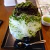抹茶と小豆のかき氷