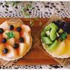 白桃とフレッシュフルーツのマスカルポーネタルト