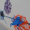 折り紙で作るクモ【ハロウィン飾り】5歳の息子と楽しむ、簡単ウォールアート