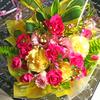 誕生日に美しい花、そして今年の軸。