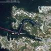 自艇の計画航路とトラックをGoogle Earth上に表示する