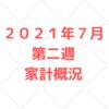 【家計管理 結果 検証】2021年7月 第二週 家計概況