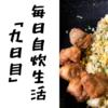 【貧乏飯】毎日自炊生活「九日目」~万能ぷちっとごはんシリーズ~