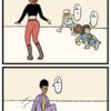 4コマ連載漫画「スペース・キャット」 - 第3話「顔合わせ」