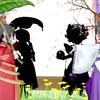 『桜舞う和風庭園』