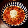 ガンボスープと枝豆ペペロンチーノ