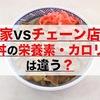 数字で徹底比較|牛丼チェーン店 VS 家の牛丼、栄養素・カロリーは違う?