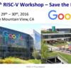 5th RISC-V workshop @ Google Mountain View のアジェンダが公開されました
