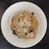 ホットクック 試作レシピ 調味料みそだけで作る白菜と鶏肉ときのこの無水味噌パスタ