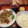 今回は、定食を食べてみました。しょうが焼き定食 770円 (@ そば処やぶ重 in 豊島区, 東京都)