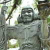 緻密につくられた銅製の毘沙門天像 福岡県遠賀郡岡垣町大字高倉