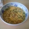 今日のお昼はワンタン麺(;^_^A