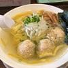 384. 塩ラーメン@稲荷屋(稲荷町):巨大鶏団子が絶品!レモンが効いた淡麗系塩ラーメン!