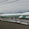 浅間山と雪の聖マーガレット館