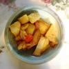 厚揚げとじゃがいも煮物、鰯、玉子焼き、茄子豚肉
