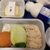 【子連れシンガポール航空】ベビーフードとベジタリアンミールを頼んでみました