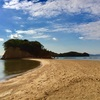 小豆島観光・エンジェルロードと土渕海峡とハート型のオリーブの葉と。