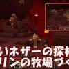 【マイクラ】新しいネザーの探検!ついでにピグリンの牧場づくり【ネザー生活】#Ⅱ