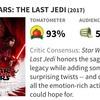 「スターウォーズ/最後のジェダイ」の全米での観客の評価が思いの外低い…[マーク・ハミルも複雑な心境]