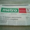 無料日刊紙『metro』