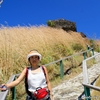 セントルシア 背景は砦遺跡