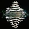 ライトアップされた松本城の夜景をiPhone11 Proで撮影