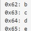 英数字のASCIIコード