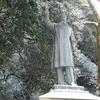 岐阜公園にある板垣退助遭難の地。「板垣死すとも自由は死せず!」