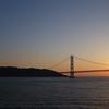 2016年5月 瀬戸内【1/5】阪九フェリーの大阪~北九州スイート客室乗船記。明石海峡大橋と夕日を眺める快適な船旅