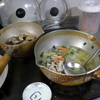 幸運な病のレシピ( 1980 )夜:ニシン煮付け、汁、後にキムチチャーハン、豚ソテー