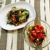 赤いサラダとレタス炒め